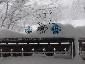 バックの雪がポイントです。